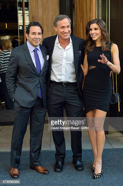 Paul Nassif Terry Dubrow and Heather Dubrow are seen departing the Jacob Javits Center on May 14 2015 in New York City