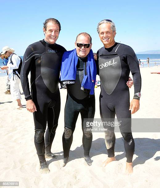 Paul Naude Peter PT Townend and Gregory Harrison attend the 2009 Project Save Our Surf 1st Annual Surfathon and Oceana Awards at Ocean Park Beach on...