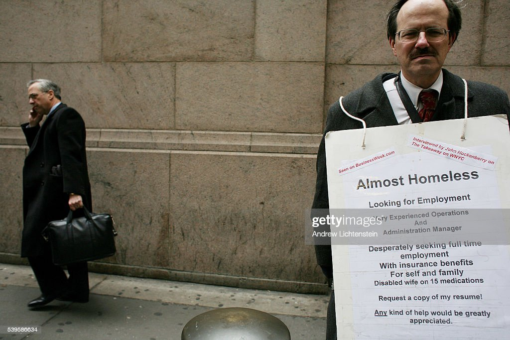 usa employment man seeking job on the street pictures getty