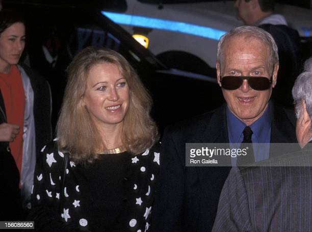 Paul Newman and daughter Claire Newman during 'Where the Money Is' New York City Premiere at Loews 42nd Street E Walk in New York City New York...