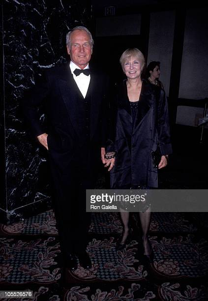 Paul Newman and Joanne Woodward during The Age of Innocence New York City Premiere at Ziegfeld Theater in New York City New York United States