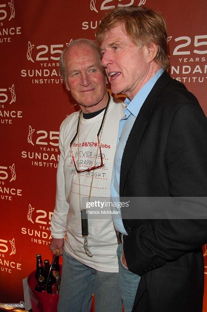 Paul Newman and Robert Redford attend Sundance Institute 25th Anniversary at Metropolitan Pavillion on November 6, 2006 in New York.