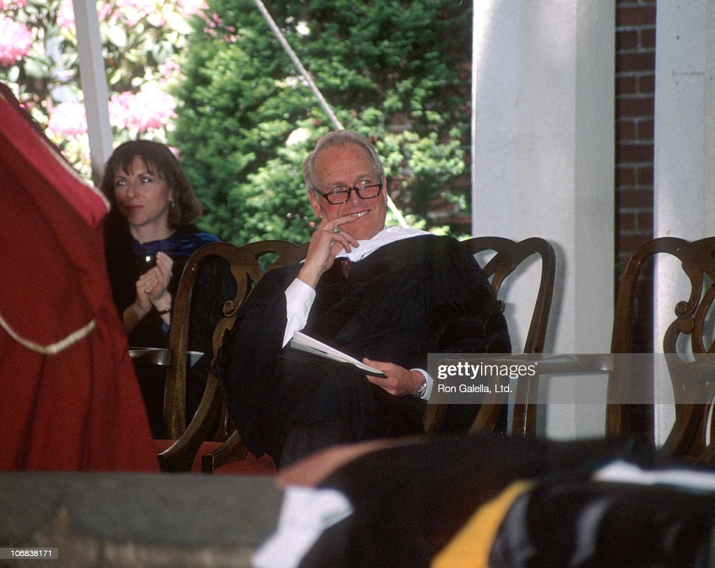 Paul Newman during Class of 1990 Graduation Keynote Address Delivered by Paul Newman at Sarah Lawrence College at Sarah Lawrence College in Bronxville, New York, United States.