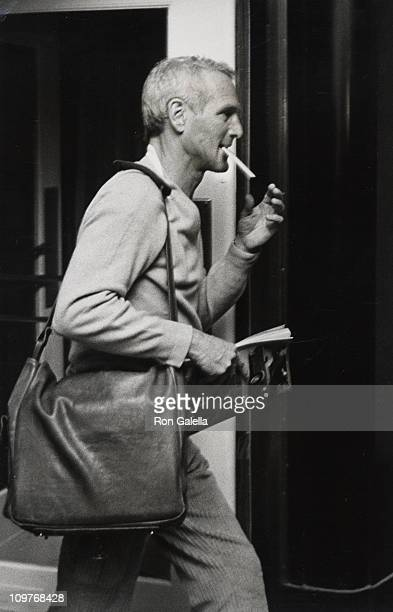 Paul Newman during Paul Newman sighting at the Caryle Hotel during the 'Candida' Performance October 22 1981 at Caryle Hotel in New York City New...