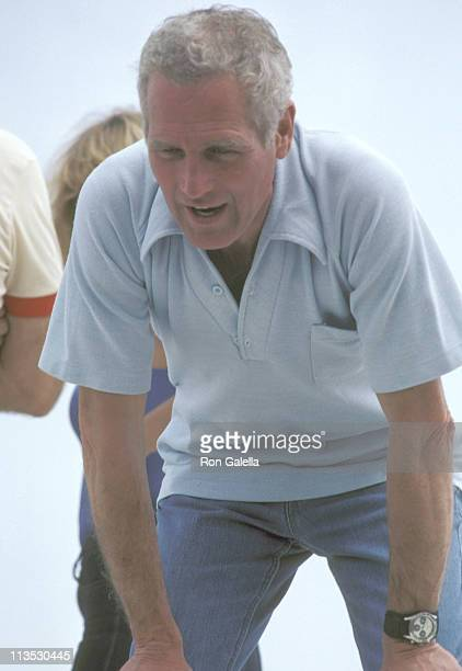 Paul Newman during Paul Newman sighting at the Riverside Raceway during the LA Times/Toyota Grand Prix April 26 1981 at Riverside Raceway in...