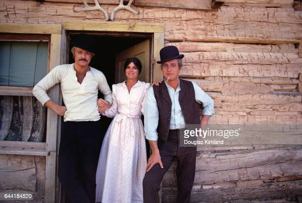 Paul Newman Katherine Ross and Robert Redford on the set of Butch Cassidy and the Sundance Kid