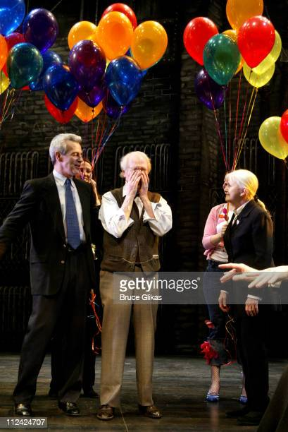 Paul Newman takes his final curtain call in Our Town on Broadway and is given a Birthday Salute sendoff from the cast and crew including wife Joanne...