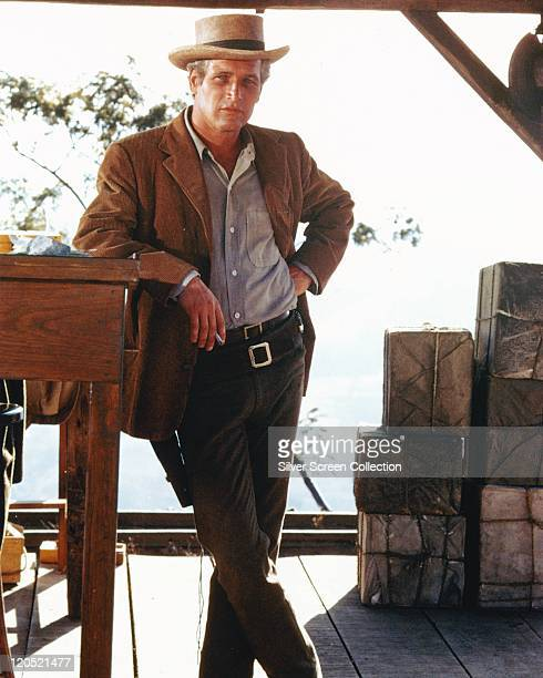 Paul Newman US actor in a publicity portrait issued for the film 'Butch Cassidy and the Sundance Kid' 1969 The western directed by George Roy Hill...