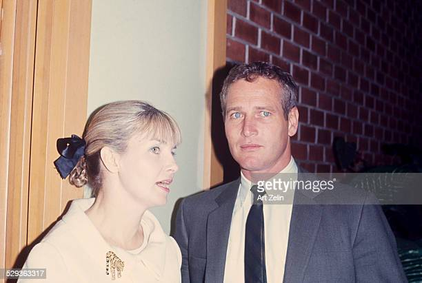 Paul Newman with his wife Joanne Woodward circa 1970 New York