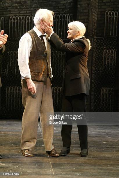 Paul Newman with wife Joanne Woodward takes his emotional final curtain call in Our Town on Broadway and is given a Birthday Salute sendoff from the...