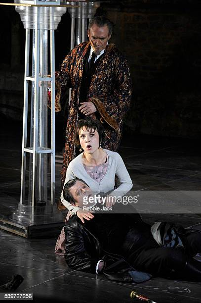 Paul Nilon Renata Pokupi and Russell Smythe perform in the production of Antonio Vivaldi's opera L'Incoronazione Di Dario at Garsington in...