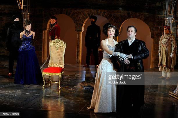 Paul Nilon Renata Pokupi Wendy Dawn Thompson Nicholas Watts and Antonia Sotgiu perform in the production of Antonio Vivaldi's opera L'Incoronazione...