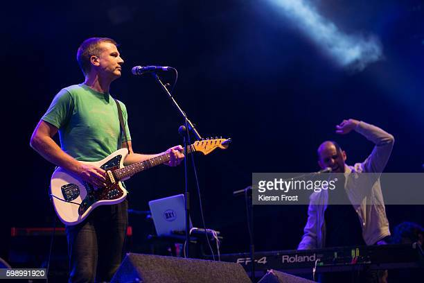 Paul Noonan and David Geraghty of Bell X1 performs at electric Picnic at Stradbally Hall Estate on September 3, 2016 in Dublin, Ireland.