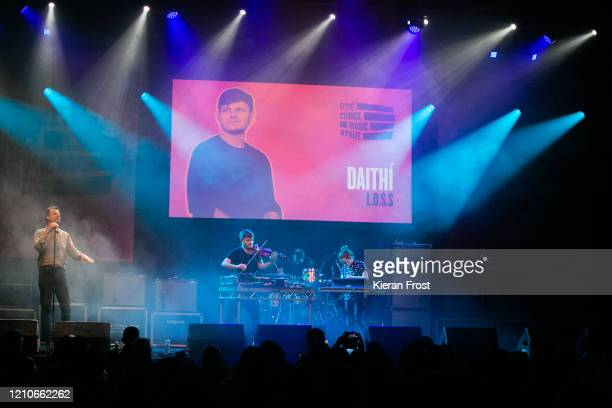 Paul Noonan, Daithi and Elaine Mai and Sinead White performs at the RTE Choice Music Prize at Vicar Street on March 05, 2020 in Dublin, Dublin.