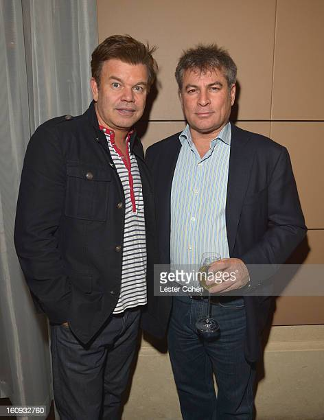 Paul Oakenfold and Founder/CoCEO of AAM Andy Kipnes attend the Friends N Family Dinner Hosted by Mark Beaven and Andy Kipnes at Scarpetta on February...
