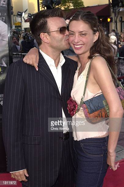 Paul Oakenfold and his wife arrive at the world premiere of Warner Bros'' 'Swordfish' June 4 2001 at the Mann Village Theatre in Westwood CA