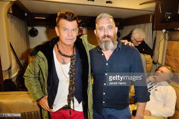 Paul Oakenfold and Jeremy Corbell at 'Storm' Area 51 Basecamp at Alien Research Center on September 20 2019 in Hiko Nevada