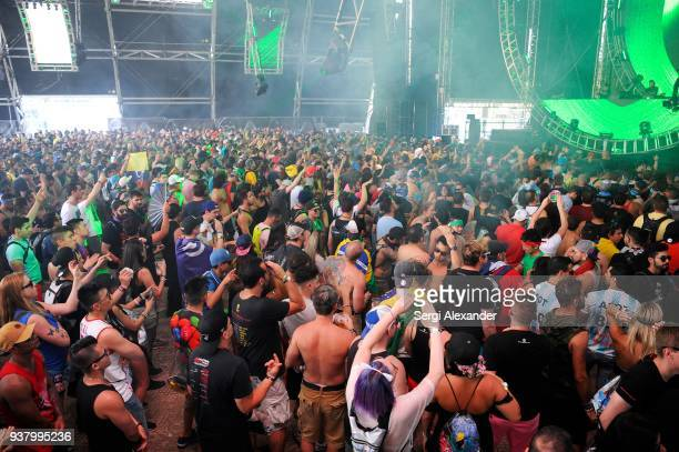 Paul Oakenfold performs on stage at Ultra Music Festival at Bayfront Park on March 25 2018 in Miami Florida