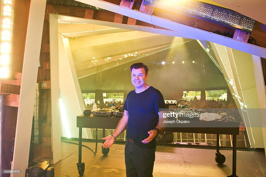 Paul Oakenfold performs on stage during the Electric Daisy Carnival 2014 on July 12, 2014 in Milton Keynes, England.