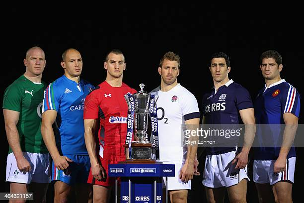 Paul O'Connell of Ireland Sergio Parisse of Italy Sam Warburton of Wales Chris Robshaw of England Kelly Brown of Scotland and Pascal Papé of France...