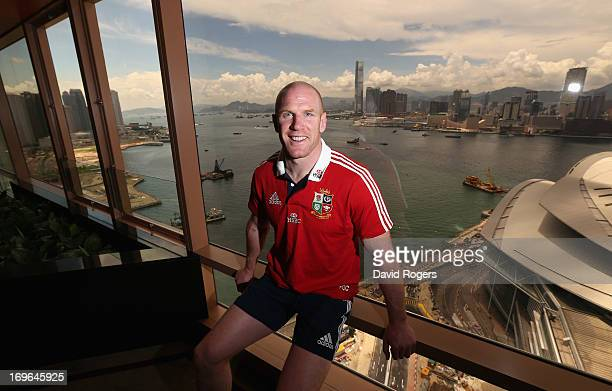 Paul O'Connell poses after being announced as the Lions captain in their first match against the Barbarians after the British and Irish Lions team...