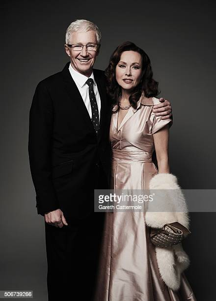 Paul O'Grady and Amanda Mealing pose in the Portrait Studio during the 21st National Television Awards at The O2 Arena on January 20 2016 in London...
