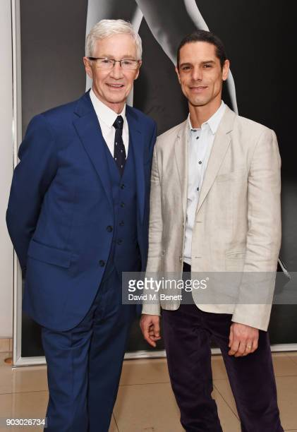 Paul O'Grady and Andre Portasio attend the opening night drinks reception for the English National Ballet's 'Song Of The Earth / La Sylphide' at St...