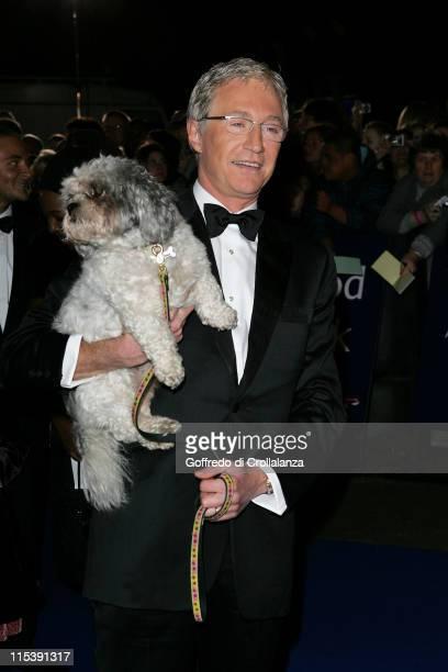 Paul O'Grady and Buster during National Television Awards 2005 at Royal Albert Hall London in London United Kingdom