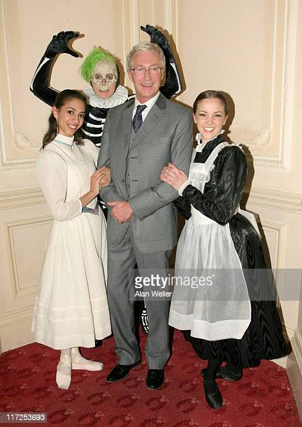 Paul O'Grady with cast members Jennie Harrington and Grant Rae