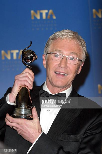 Paul O'Grady with his 2005 National Television Award for Best Daytime Programme