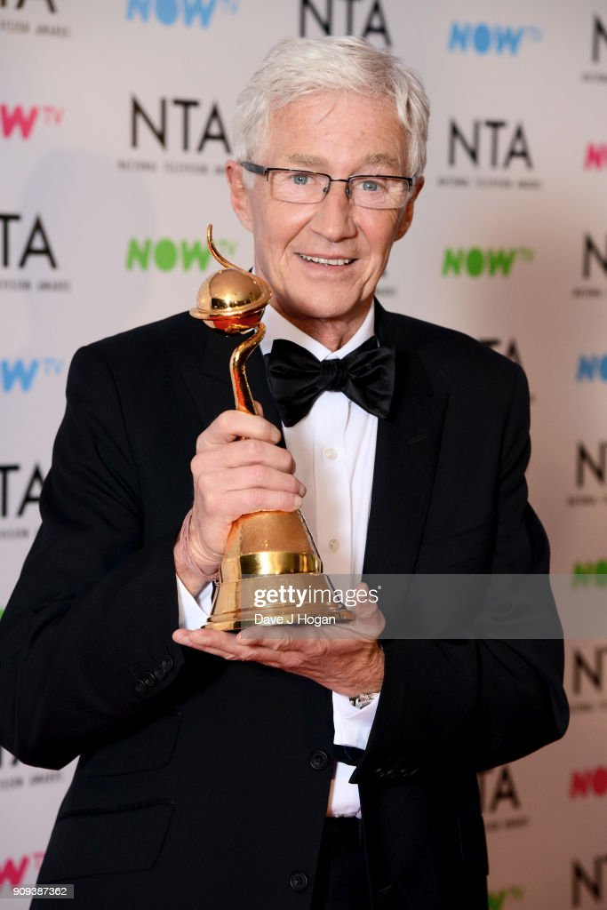 Paul O'Grady with the Special Recognition award at the National Television Awards 2018 at The O2 Arena on January 23, 2018 in London, England.
