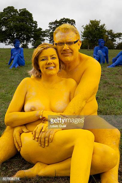 Paul Olloman mortgage broker and his wife Caroline school secretary Woburn Sands Bucks participants in a Spencer Tunick Installation of 850 naked...