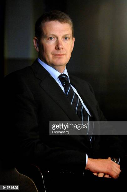 Paul O'Malley chief executive officer of BlueScope Steel Ltd poses for a photograph following the company's fullyear results presentation in Sydney...