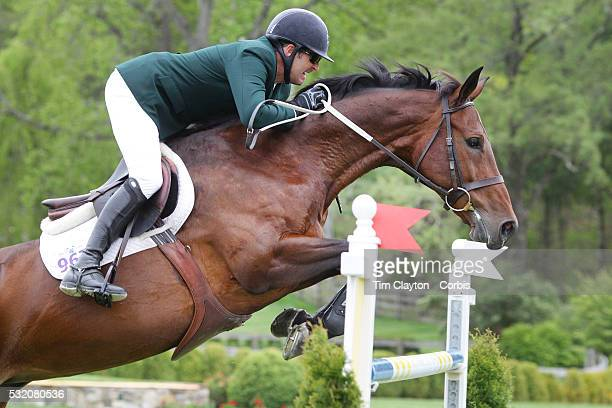 Paul O'Shea Ireland riding NLF Favorite in action during The $50000 Old Salem Farm Grand Prix presented by The Kincade Group at the Old Salem Farm...