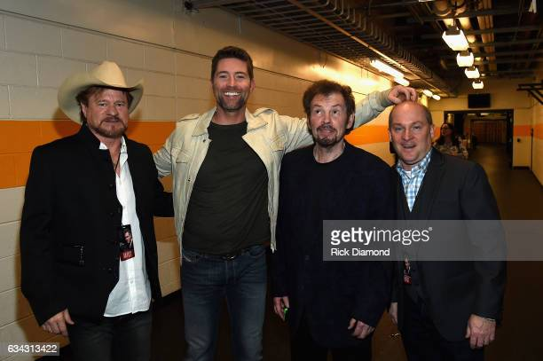 Paul Overstreet Josh Turner Alabama's Jeff Cook and Darrin Vincent backstage during 1 Night 1 Place 1 Time A Heroes Friends Tribute to Randy Travis...