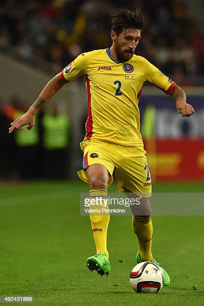 Paul Papp of Romania in action during the UEFA EURO 2016 Qualifier between Romania and Finland on October 8 2015 in Bucharest Romania