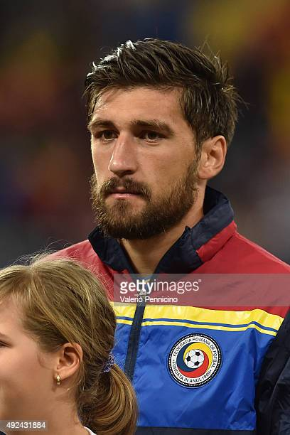 Paul Papp of Romania looks on during the UEFA EURO 2016 Qualifier between Romania and Finland on October 8 2015 in Bucharest Romania