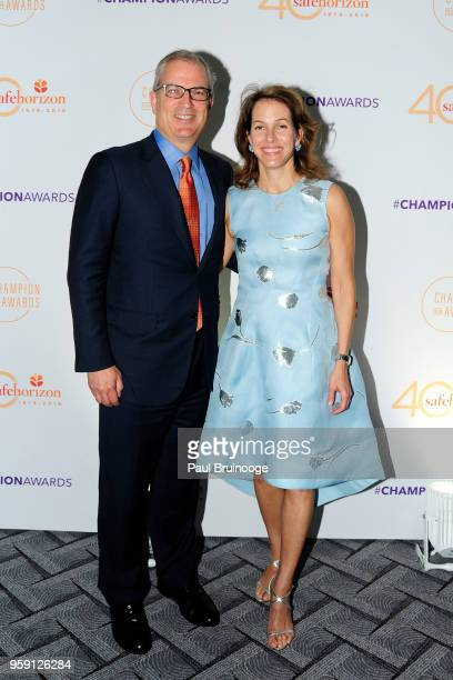 Paul Parker and Andrea Hagan attend Safe Horizon's Champion Awards at The Ziegfeld Ballroom on May 15 2018 in New York City