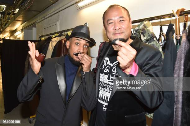 Paul Pau and Dan Nakamura attend GLDC at Saks Art and Fashion Event in the basement of Saks Fifth Ave featuring art by Karen Bystedt at Saks Fifth...