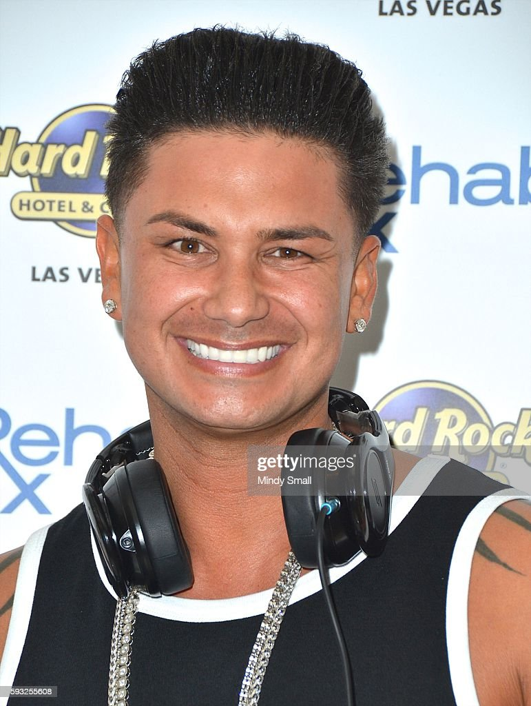 DJ Paul 'Pauly D' DelVecchio arrives at the Hard Rock Hotel & Casino to close out his Rehab Beach Club pool party residency on August 21, 2016 in Las Vegas, Nevada.