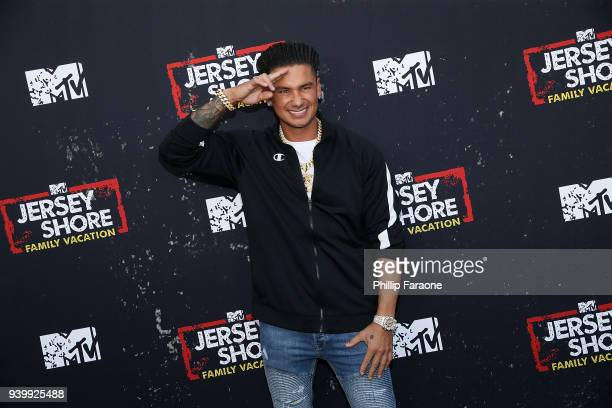 Paul 'Pauly D' DelVecchio attends the Jersey Shore Family Vacation Global Premiere at HYDE Sunset Kitchen Cocktails on March 29 2018 in West...