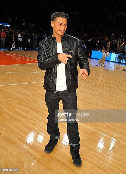 Paul Pauly D Delvecchio attends the San Antonio Spurs vs New York Knicks game at Madison Square Garden on January 4 2011 in New York City