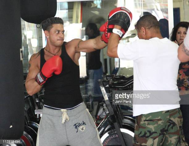 Paul 'Pauly D' DelVecchio is seen on April 7 2010 in Miami Beach Florida