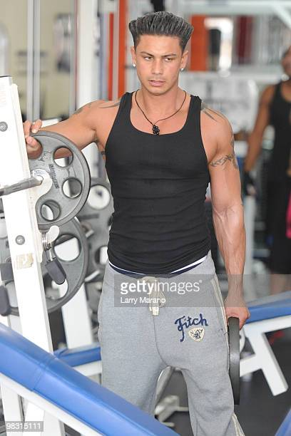 Paul Pauly D DelVecchio is sighted training at the Gym on April 7 2010 in Miami Beach Florida