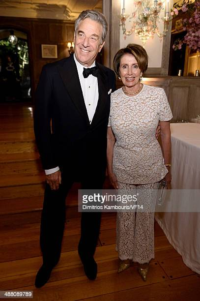 Paul Pelosi and Congresswoman Nancy Pelosi attend the Bloomberg Vanity Fair cocktail reception following the 2014 WHCA Dinner at Villa Firenze on May...