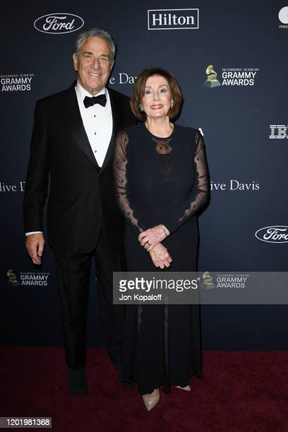 Paul Pelosi and House Speaker Nancy Pelosi attend the PreGRAMMY Gala and GRAMMY Salute to Industry Icons Honoring Sean Diddy Combs at The Beverly...