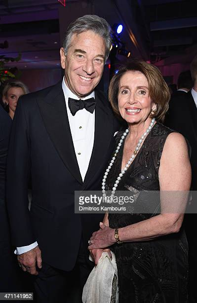 Paul Pelosi and Minority Leader of the US House of Representatives Nancy Pelosi attend the Yahoo News/ABC News White House Correspondents' dinner...