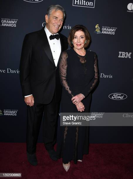 Paul Pelosi and Nancy Pelosi arrives at the PreGRAMMY Gala and GRAMMY Salute to Industry Icons Honoring Sean Diddy Combs at The Beverly Hilton Hotel...