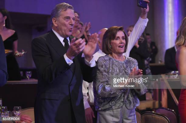 Paul Pelosi and Nancy Pelosi attend PreGRAMMY Gala and Salute to Industry Icons Honoring Debra Lee at The Beverly Hilton on February 11 2017 in Los...