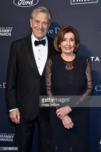 Paul Pelosi and Nancy Pelosi attend the PreGRAMMY Gala and GRAMMY Salute to Industry Icons Honoring Sean Diddy Combs on January 25 2020 in Beverly...